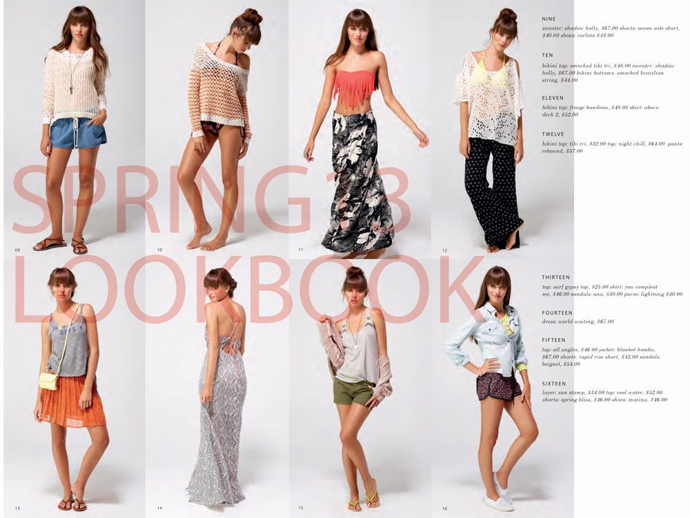 Roxy Spring/Summer 2013 Lookbook