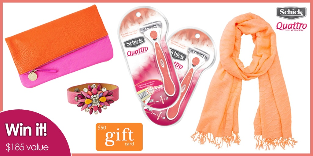 Schick Quattro for Women - Giveaway win a visa card