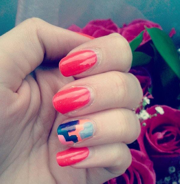 geometric nail art pinky's nails toronto
