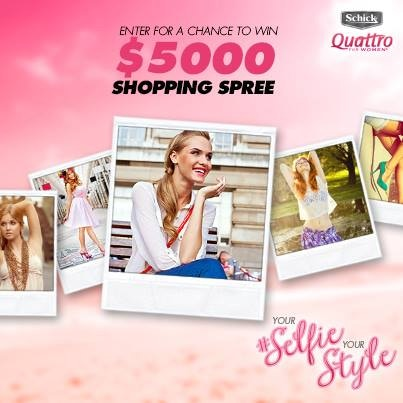 Your #selfie your style contest schick quattro for women