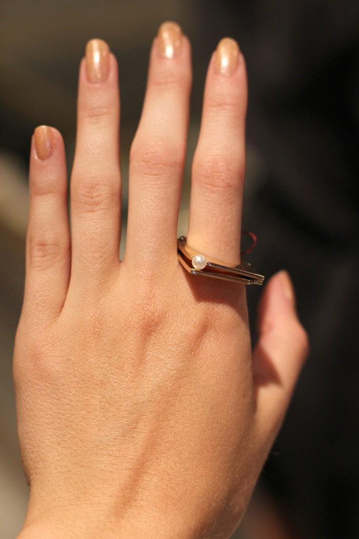 alessia magnotta pearl gold ring