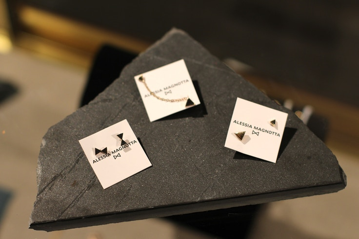 alessia magnotta silver bow earrings