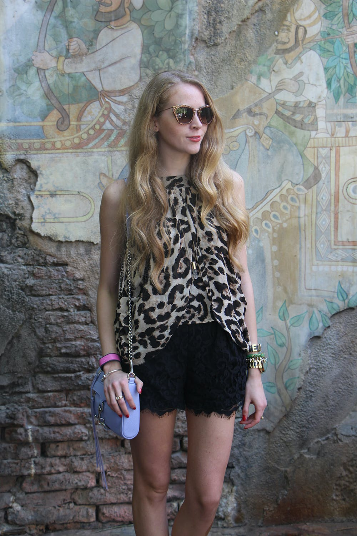Wearing leopard at Disney's Animal Kingdom