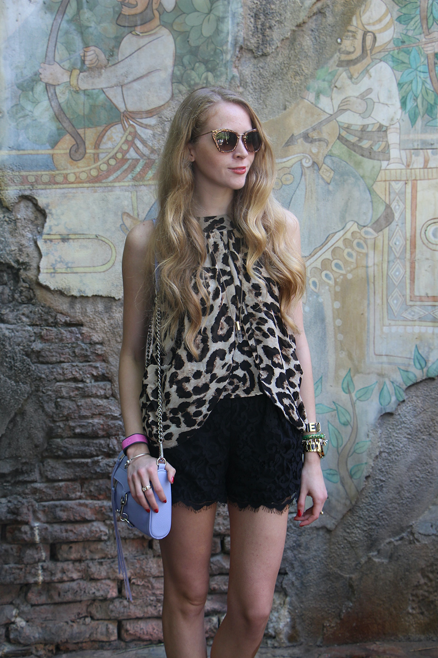 Wearing leopard at Disney's Animal Kingdom