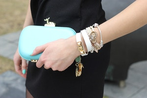 anna dello russo clutch and arm candy