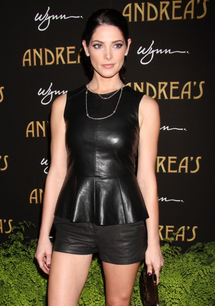 ashley greene leather top