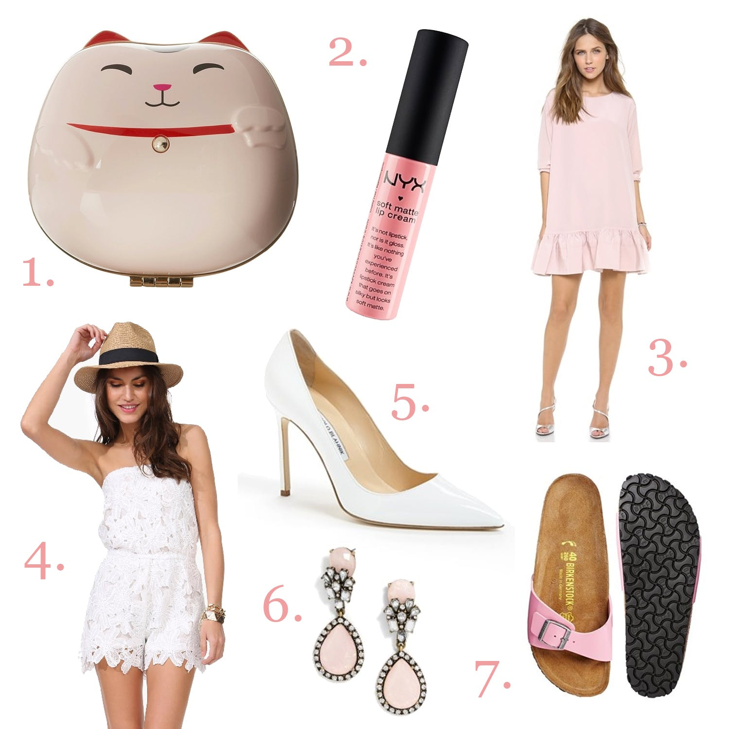 August 2014 Wishlist: Pink and White