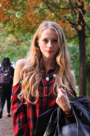 autumn plaid shirt