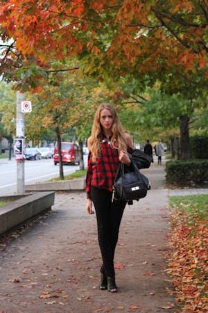 autumn tartan look