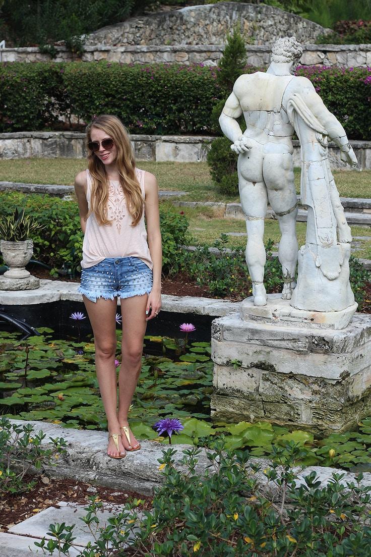 bahamas garden jean shorts