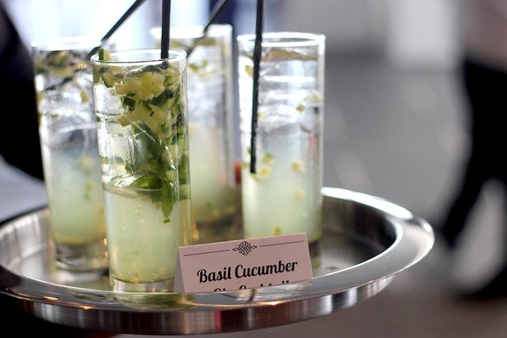 basil cucumber gin cocktail