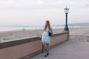 summer wedding outfit ted baker lace dress