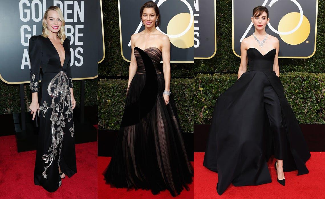 Golden Globes 2018 Time's Up Fashion Recap