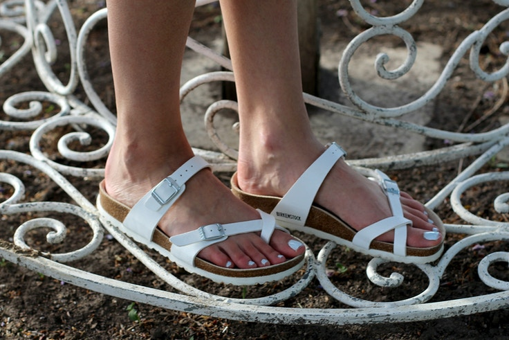 birkenstock mayari sandal white