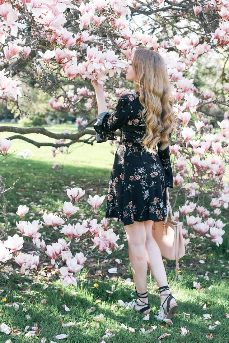 black bell sleeve dress (5 of 14)