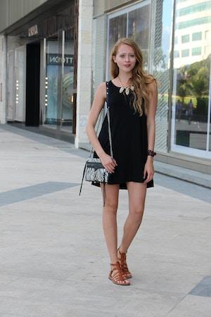 black dress zebra mini mac