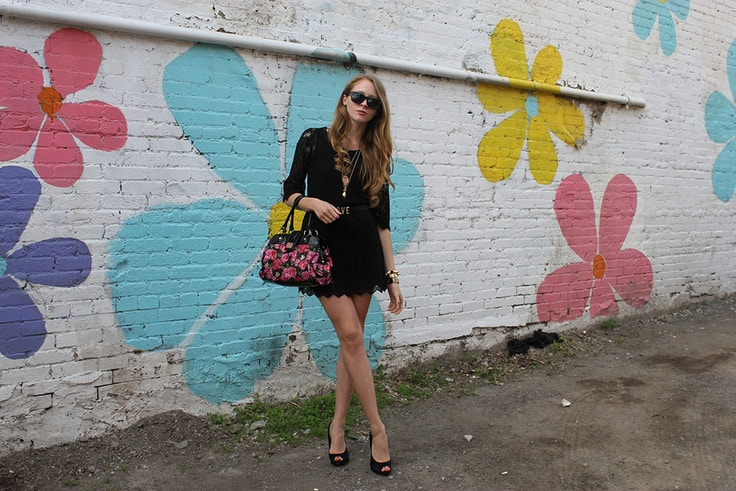 black lace dress ossington