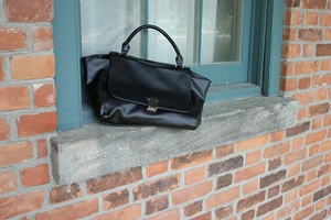 black trapeze celine bag