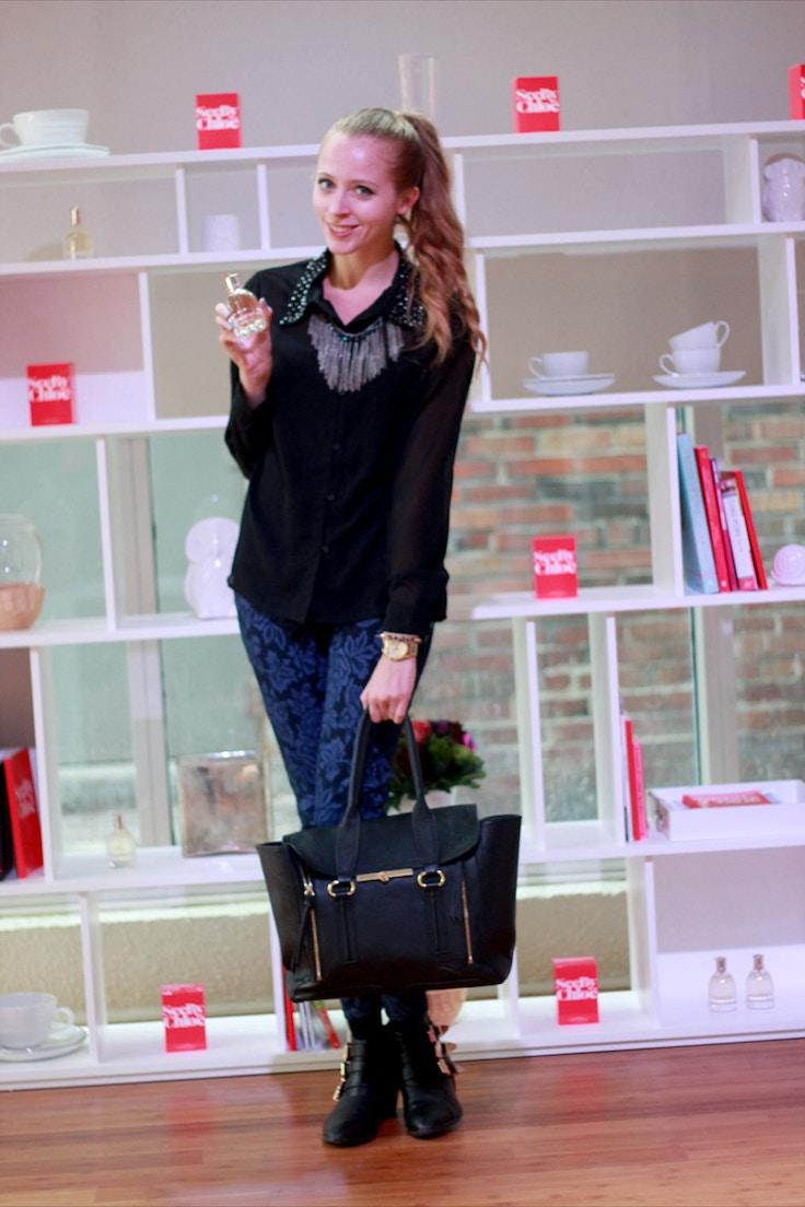 black vero moda blouse brocade pants
