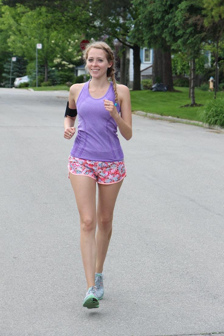 blogger running half marathon outfit