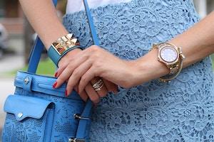blue faux hermes collier de chien