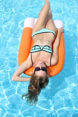 blue triangl bikini