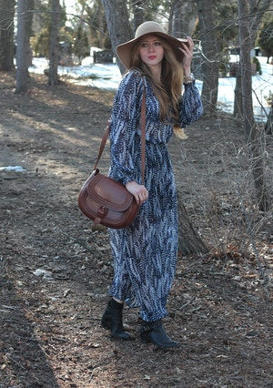 bohemian dress from h&m