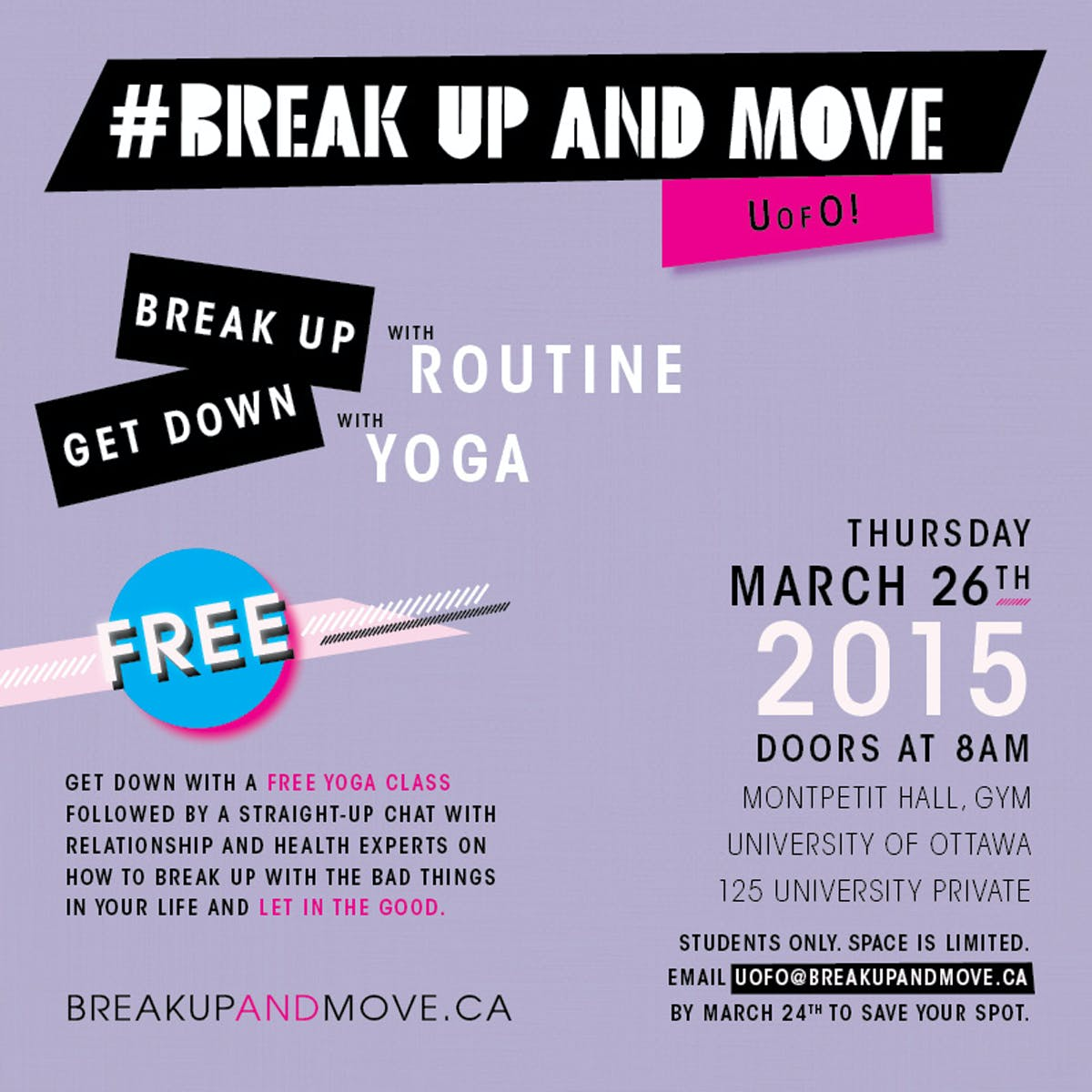 Yoga for stress + free yoga class at UOttawa!