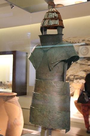 bronze armour archeological museum of nauplion