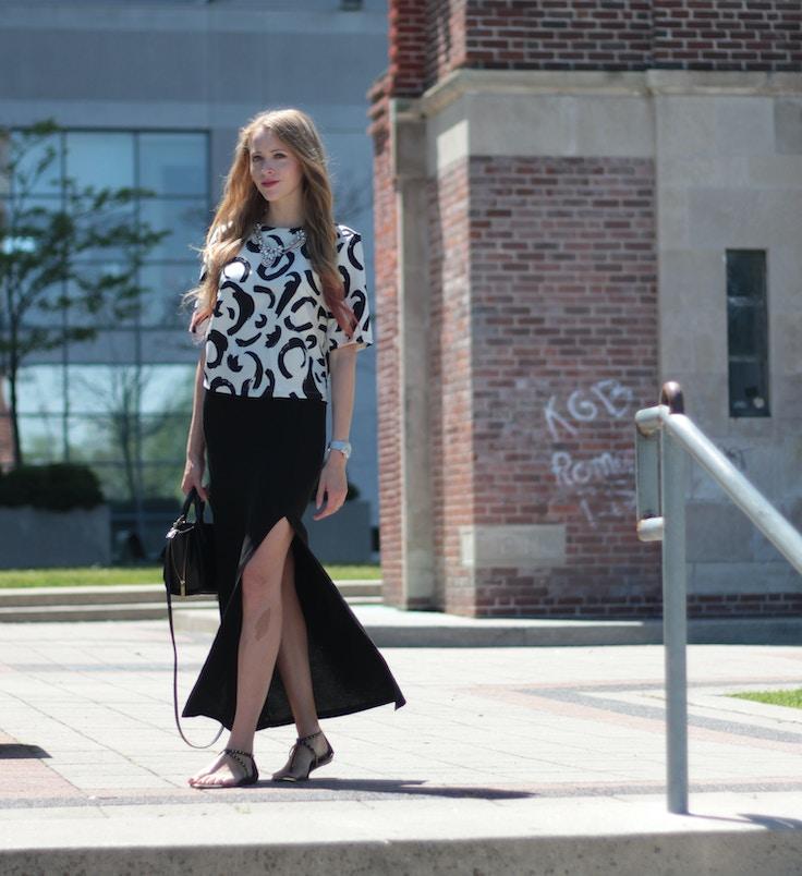 brushstroke zara shirt maxi skirt forever 21