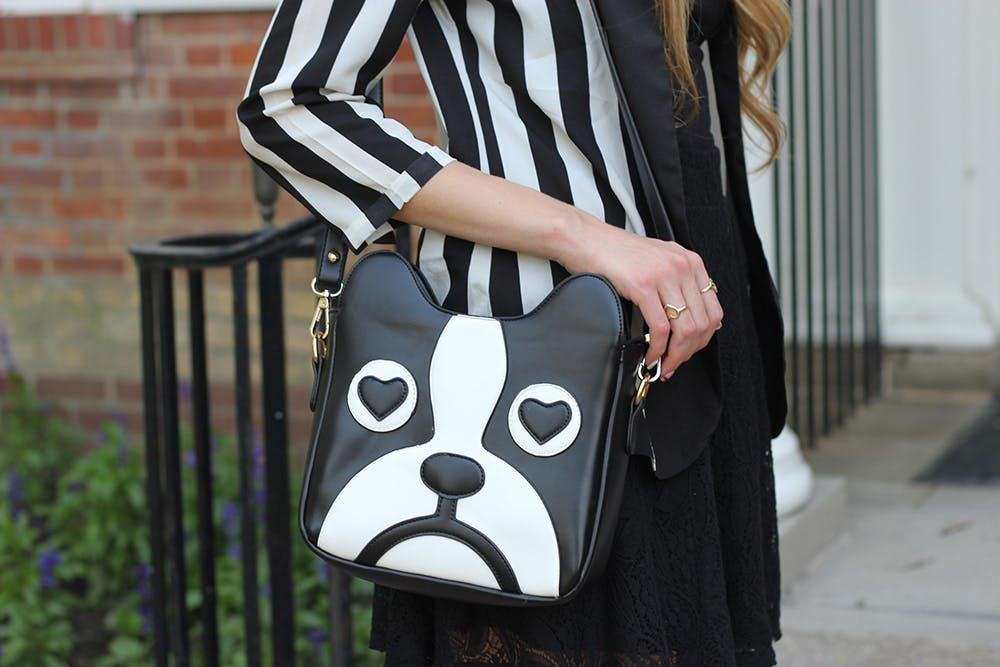 French bulldog purse