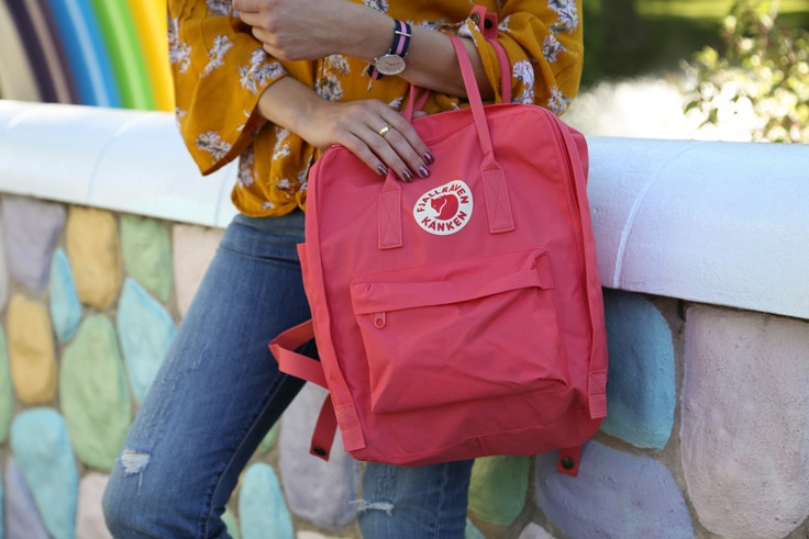 fjallraven kanken backpack pink