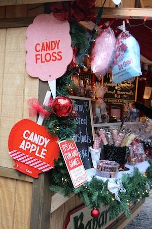 candy floss christmas market