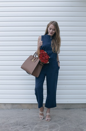 casual office outfit jumpsuit (1 of 5)