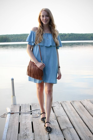 chambray dress casual outfit (2 of 5)