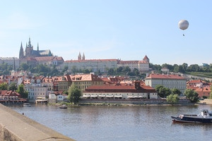 charles bridge view of prague castle