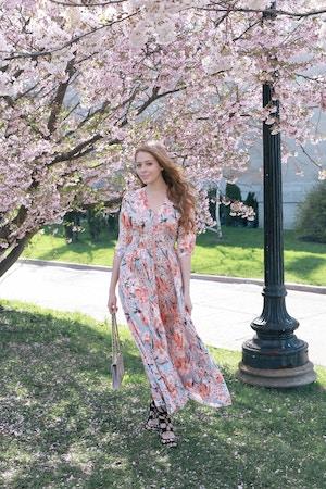 cherry blossom print dress (1 of 11)