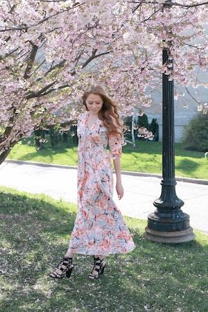 cherry blossom print dress (2 of 11)