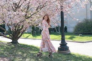 cherry blossom print dress (3 of 11)
