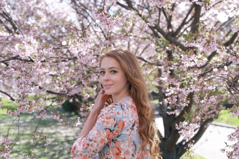 Cherry Blossom print dress