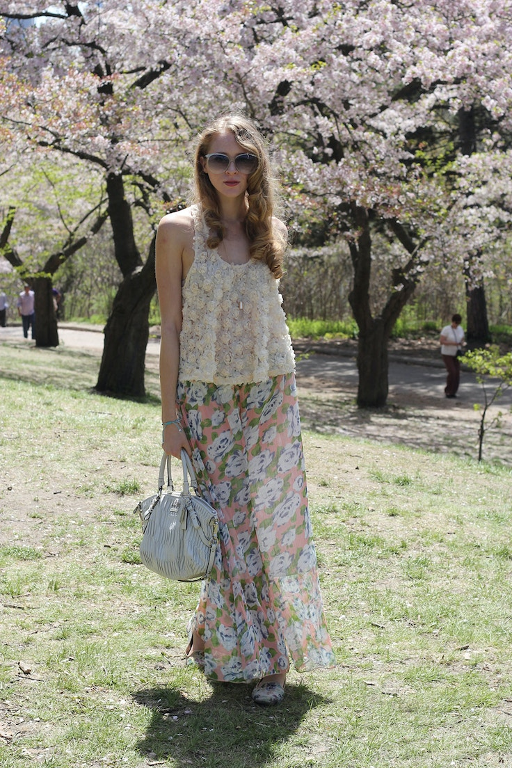 cherry blossoms high park outfit