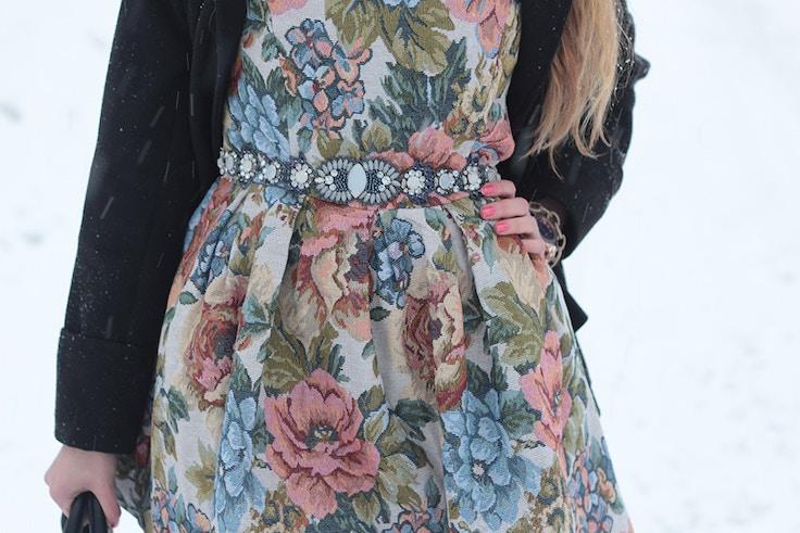chicwish floral dress anthro belt
