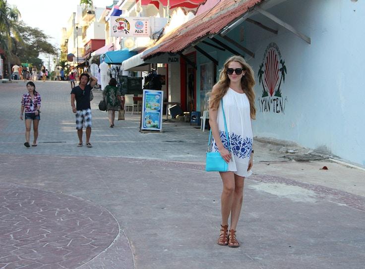 chicwish white and blue dress