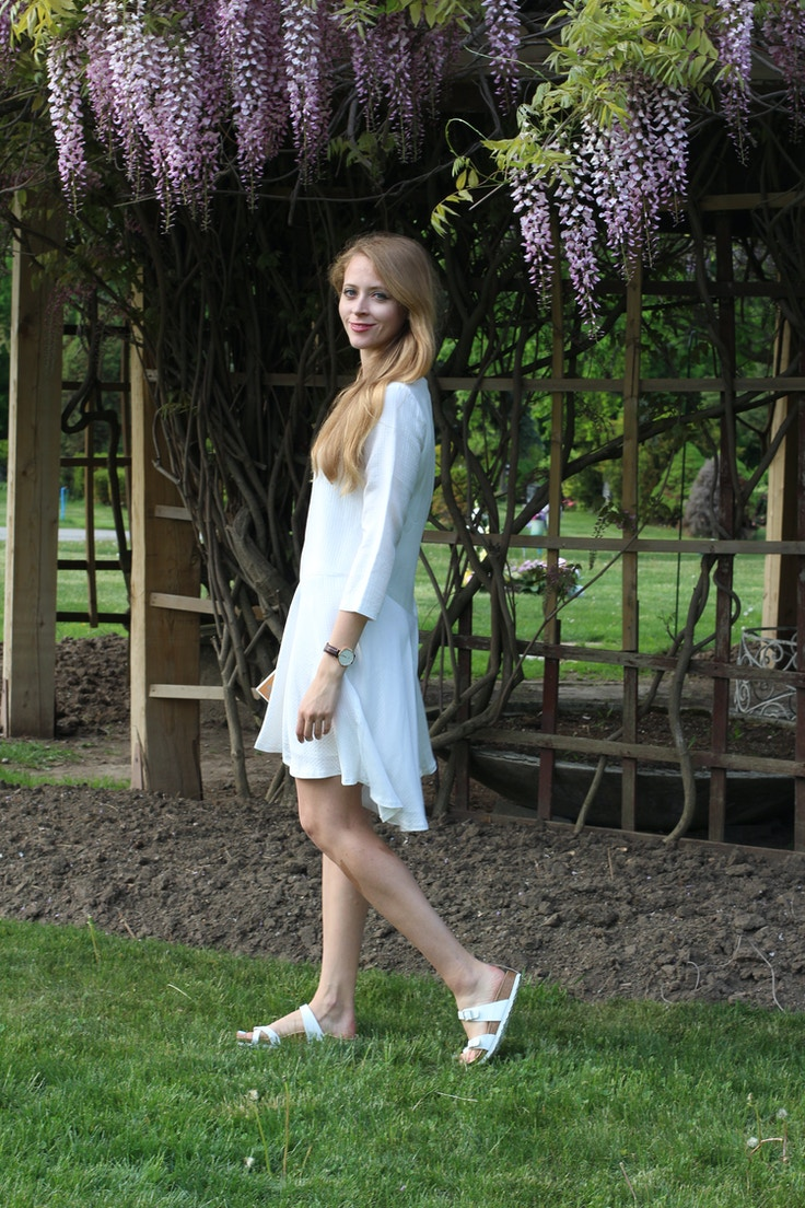 club monaco darti white dress
