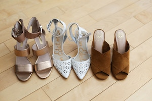 vince camuto mules sam edelman laser cut shoes