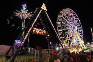 cne ferris wheel at night