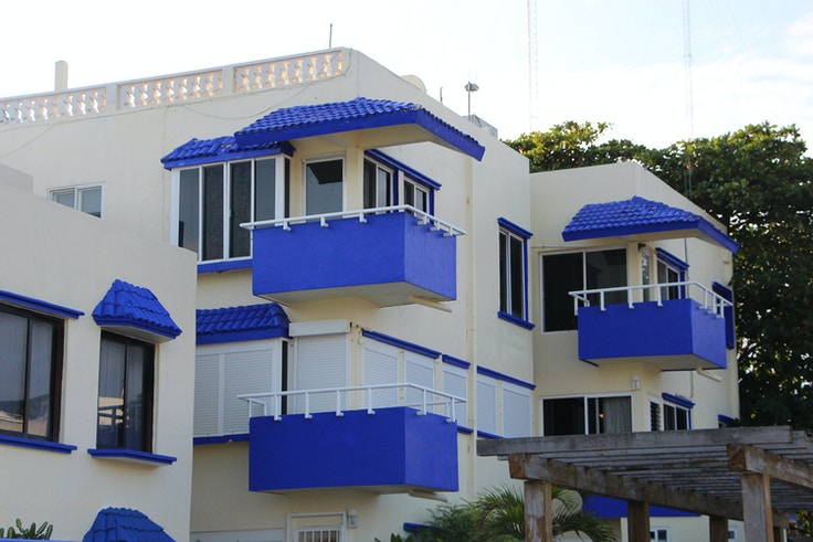 cobalt roofs mexican apartment