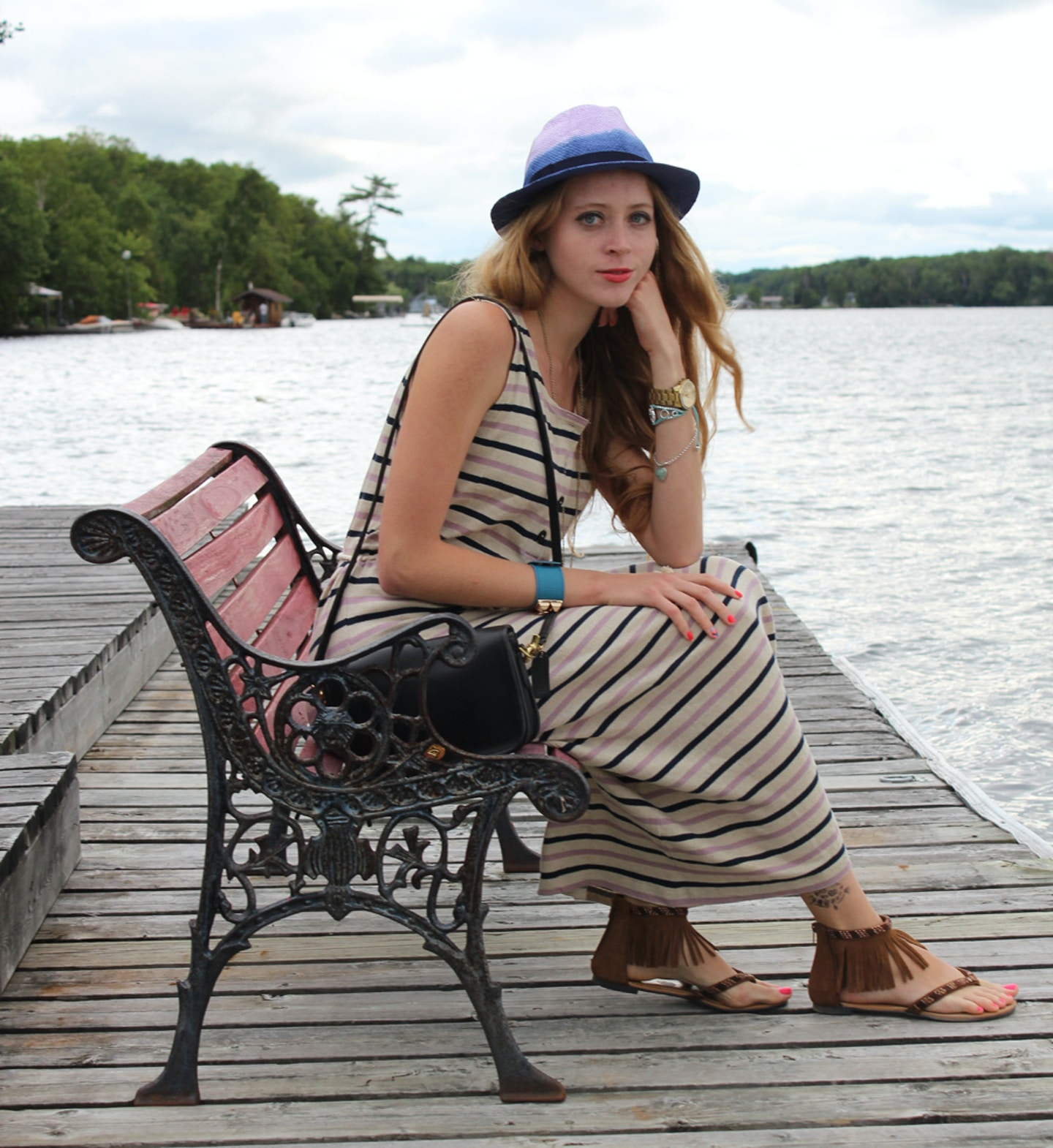Cottage cool – striped maxi dress