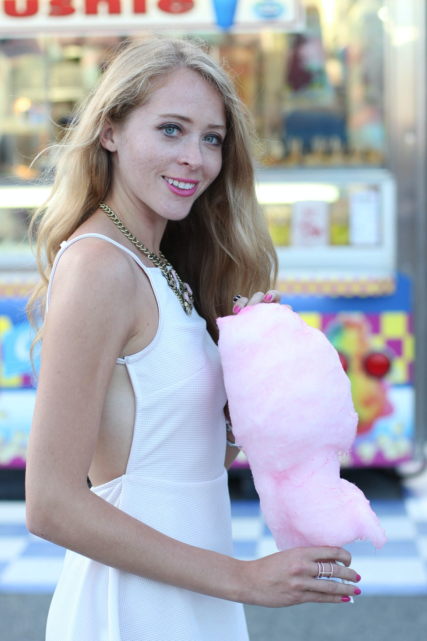 Cotton candy pink dress