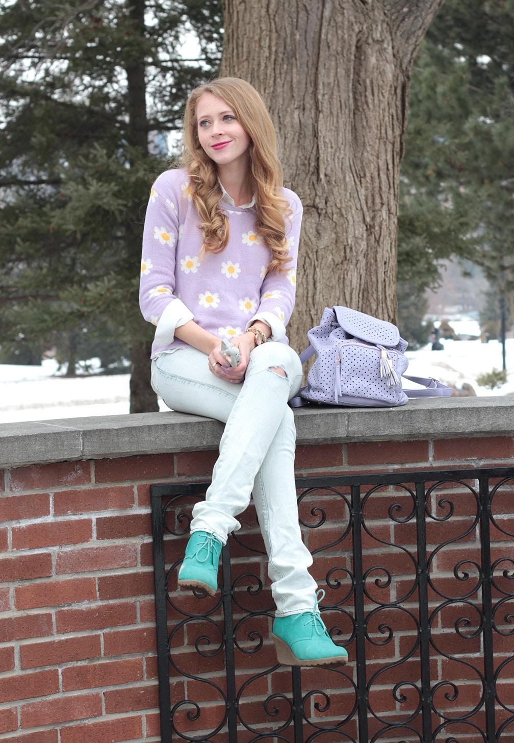 daisy knit sweater victoria beckham jeans